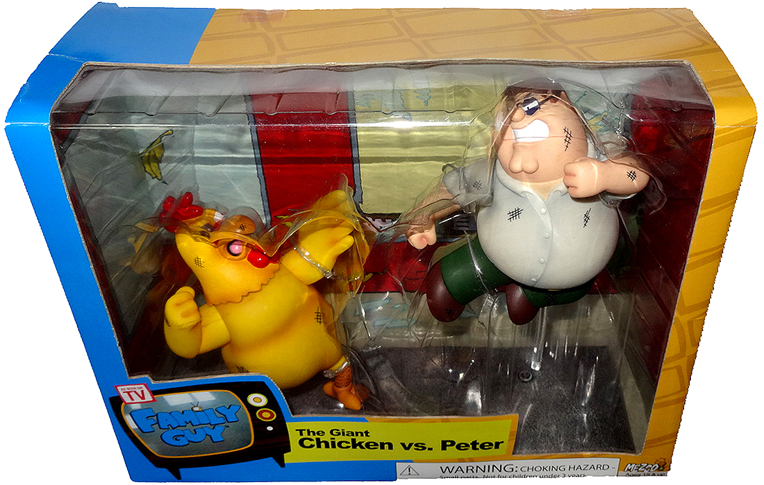 Family Guy Peter Toy : Family guy peter griffin vs the giant chicken figure set