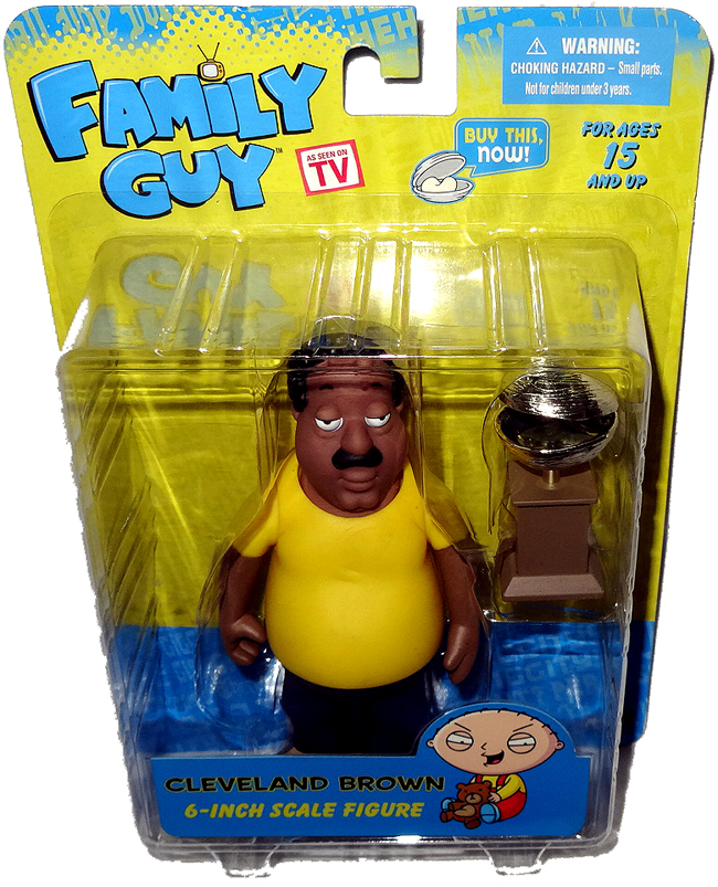 Cleveland Family Guy Toys : Family guy cleveland brown action figure mib quot reissue
